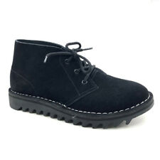 Genuine Rollers Ripple Sole Desert Boots DB's Rollers New Black Suede AC/DC  👌