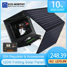 120W Watt Foldable Solar Panel Kit Battery Charger for Generator Power Station