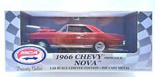 ERTL AMERICAN MUSCLE 1966 CHEVY NOVA PRO STOCK ISCA 1st IN SERIES 1:18