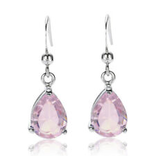 Thanksgiving Sarotta Jewelry Fashion Lady Pear Cut Pink Sapphire Dangle Earrings