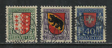 Switzerland 1921 Pro Juventute--Attractive Heraldry Topical (B18-20) fine used