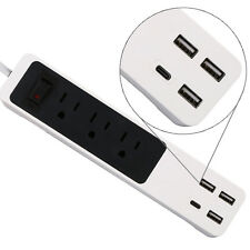 Wall 3-Outlet Power Center Surge Protector with 3 USB Charging Ports & 1 Type-C