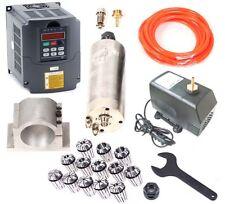 Upgrade CNC 2.2KW Spindle Spindel Motor + inverter + Mount + ER20 Collet + pump