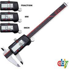 """6"""" DIGITAL ELECTRONIC CALIPER FRACTIONAL 3 Way LCD Stainless Steel Measuring"""