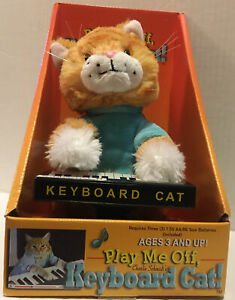 Thinkgeek Play Me Off Original KEYBOARD CAT Animatronic Plush Works Rare