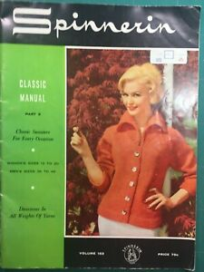 VINTAGE 1960s Fashion KNITTING Pattern SPINNERIN Classic Manual V163 60's VOGUE