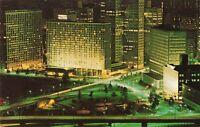 Postcard Night View Pittsburgh PA