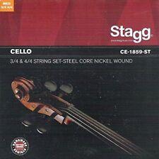 Jeu de cordes Violoncelle 4/4 et 3/4 Stagg Ce-1859-st