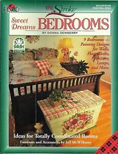 One Stroke Sweet Bedrooms by Donna Dewberry Decorative Painting Book #9623 New