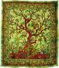 Tages-decke LEBENSBAUM Bettüberwurf TREE OF LIFE Wandbehang Deko-Tuch Yoga Grün