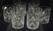 6 Russian Crystal Tumbler Glass 11oz (330 ml). Scotch Whisky Cocktail Juice NEW