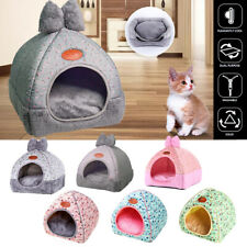 Cat Cave Bed Pet Dog kitten for Indoor Cozy House Cat Bed Warm Nest Kennel Cave~