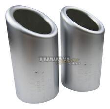 2x Premium Tubos de Escape Efecto Aluminio Original Calidad 67-73mm Muchas