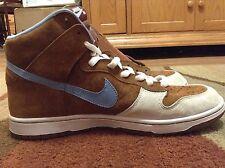 "Men's Nike SB Dunk High Premium ""Skate Mental"" Brown/blue 313171-241 Size 13"