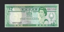 FIJI $2 Dollars 1988, P-87a Swiwatibau Sign, QEII Note, UNC