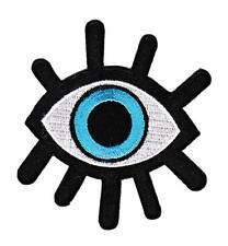 bf56 Blaues Auge Aufnäher Bügelbild Patch Applikation Blue Eye