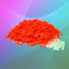 600 Pack Orange Loom Refill Rubber Band & S-Clip~All Color Authentic Available