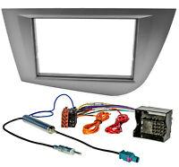 Radioblende für Seat Leon 2004-2009 Doppel DIN Rahmen Adapter Set anthrazit