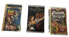 Lot 3  Disney VHS  Snow White, Beauty And The Beast platinum edition,Toy story