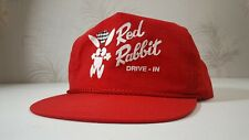 Vintage Red Rabbit Drive-in Rope Hat Cap -  Nostalgic Americana