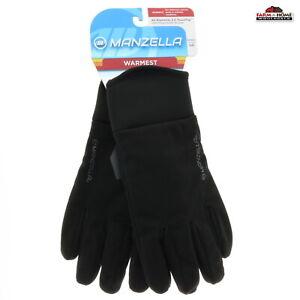 Manzella Women's Warmest Winter Gloves Large Black ~ New