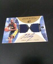 2003-04 Jamaal Tinsley UD Winning Materials Dual Jersey Auto Card 28/ 100