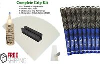 Golf Club GRIP KIT 8 Tape Strips, Solvent, Vise Clamp, and GRIPS!