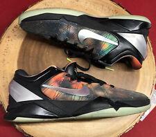 Nike Zoom Kobe VII 7 AS Galaxy All Star Black Orange Volt Poison Dart Frog Sz 10
