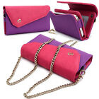 Womens Link Wallet Case & Crossbody Clutch Cover for Smart Cell Phones CRWL6