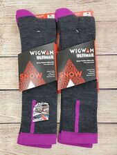 2 Pack Wigwam Snow Fusion Ultra-Lite Merino Wool F1440 Sock & Liner Size M