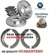 FOR JEEP GRAND CHEROKEE 1998-2001 REAR BRAKE DISCS SET + DISC PADS + SHOES KIT