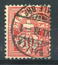 SUISSE - 1882-1899, timbre CLASSIQUE n° 67, CROIX, CHIFFRE, oblitéré