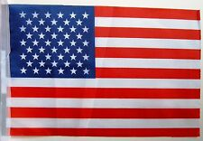 Super USA America Stars and Stripes Fabric Bunting 18ft / 5.5m 20 Flags Olympics