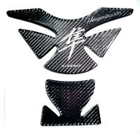 Suzuki Hayabusa Real Carbon Fiber +Crome Tank Protector Pad Sticker Trim guard