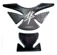 Suzuki Hayabusa GSX Real Carbon Fiber + Crome Tank Protector Pad Sticker Trim