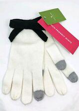 Kate Spade Tech Friendly Cream White Contrast Bow Knit Gloves NWT