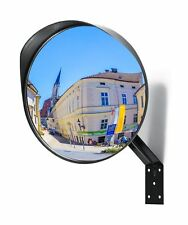 "Premium Convex Mirror - Adjustable 12"" Curved Security Mirror for Indoor & Ou."