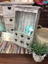 Country Kitchen shelf - White wash heart design 3 hanging hooks - AFTERPAY