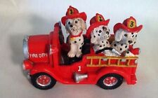 Fire Truck with Dalmation Fire Fighters