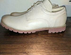 Rockport Colben Oxford Dress Shoe Beige Sz 10