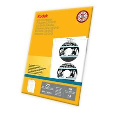 Kodak CD/DVD Labels X20. 1 Pack Of 20 Labels, 10 A4 Sheets. New