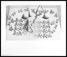 MC Escher Zauberspiegel Poster Kunstdruck mit Alu Rahmen in schwarz 55x65cm