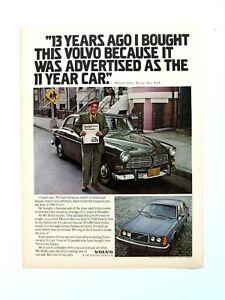 "William Stiles Volvo Sedan 11 Year Old Car Original Print Ad 8.5 x 11"""