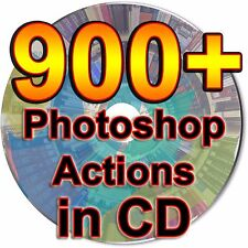 900 Photoshop Actions CD Collection Graphic Web Designers ATN Design Files PSD