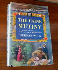 The Caine Mutiny Herman Wouk WWII Navy 1951 First Ed Book WIth Dust Jacket