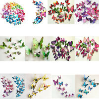 36pcs 3D Removable Butterfly Wall Stickers DIY Emulation Decal Room Home Decor