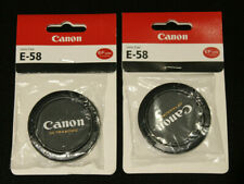 (2) CANON ultrasonic 58mm front lens cap (2 CAPS) E-58 - Ships Free from USA