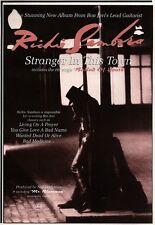 "7/9/91 Pgn17 RICHIE SAMBORA : STRANGER IN THIS TOWN ALBUM ADVERT 10X7"""
