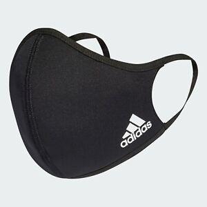 adidas 3 Pack Face Mask Cover Black Size XS/S Black Men Women Fashion Style