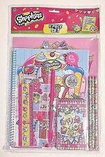 NEW Shopkins 11pc School Supply Set Notebook Folders Pencils Eraser Ruler Pouch